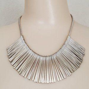 Stella & Dot Essential Fringe Necklace Silver Tone